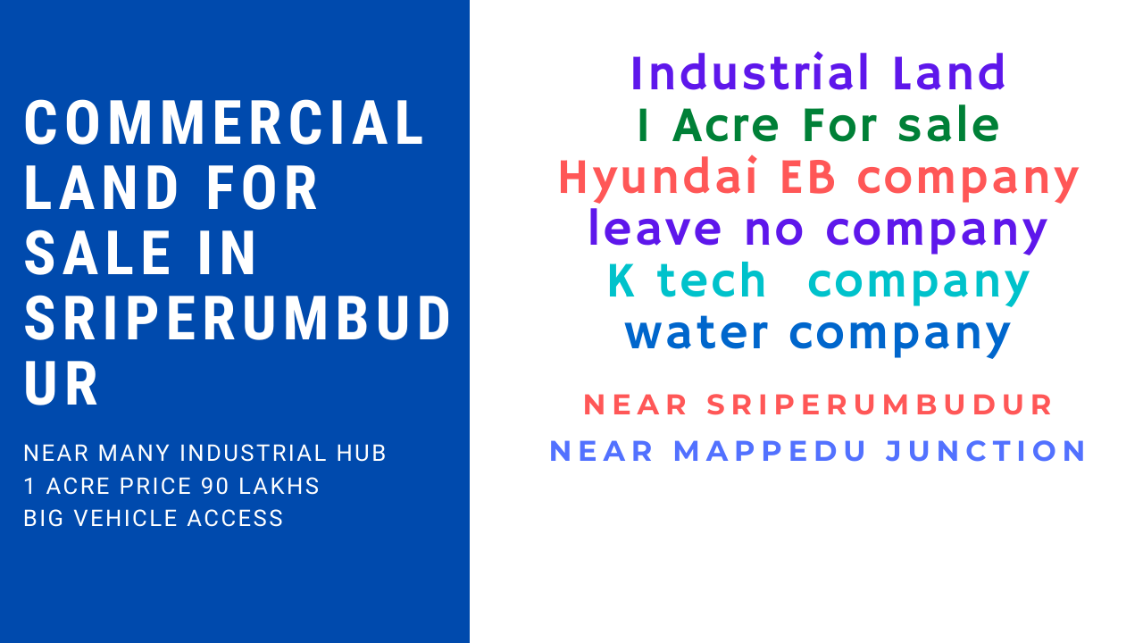 Commercial land for sale in sriperumbudur Chennai