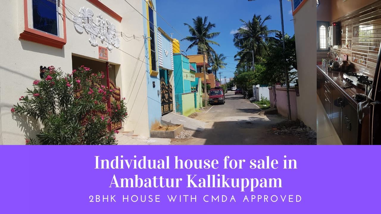 Individual house for sale in Ambattur Kallikuppam